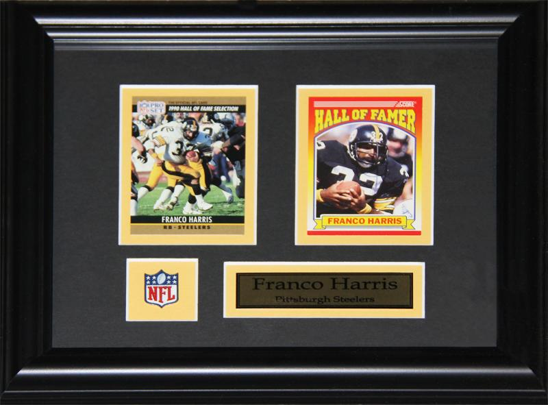 Franco Harris Pittsburgh Steelers 2 Card NFL Football Collector Frame