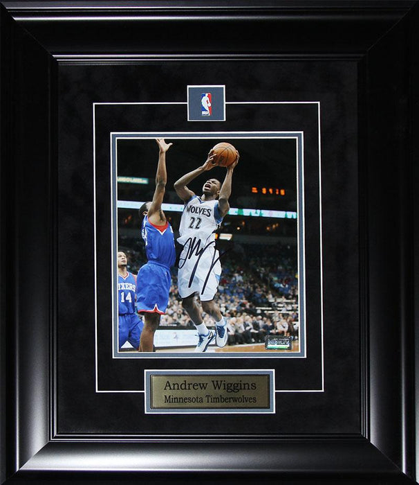 Andrew Wiggins Minnesota Timberwolves Signed 8x10 NBA Basketball Collector Frame