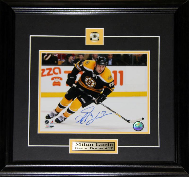Milan Lucic Boston Bruins Signed 8x10 NHL Hockey Memorabilia Collector Frame