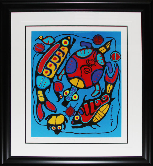 Harmony in Nature Limited Edition /950 Native Indian Heritage Art Print by Norval Morrisseau
