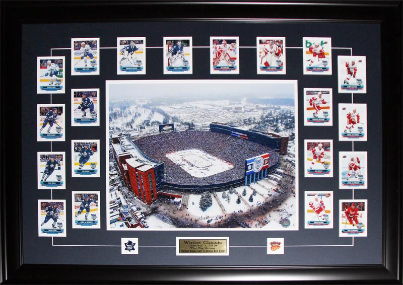 2014 Winter Classic Toronto Maple Leafs Detroit Red Wings Cards Set NHL Hockey Frame