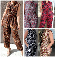 WOMAN FULL ROMPER #302 ANIMAL PRINT