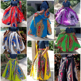 WOMAN TRADITIONAL PRINT LONG MAXI SKIRT - #1010 DASHIKI