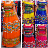 DASHIKI SMOCKED DRESS