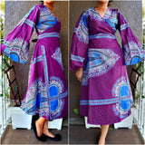 #1016 MID LENGTH WRAP DRESS