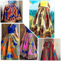 WOMAN TRADITIONAL PRINTED SKIRT
