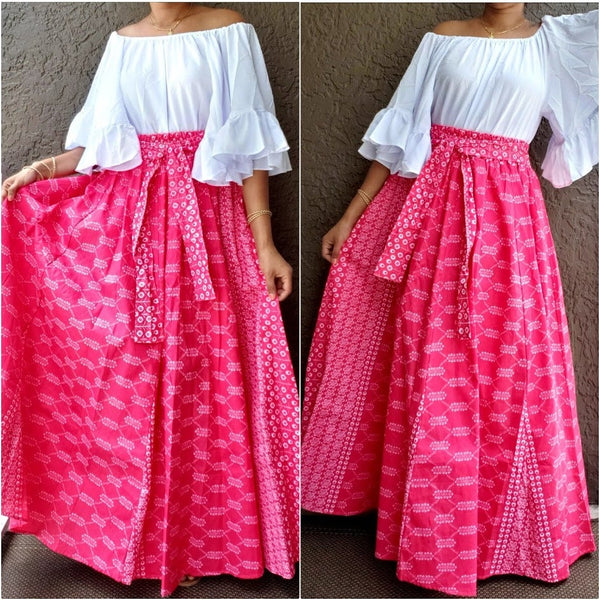 WOMAN LONG MAXI SKIRT #AA18-485L