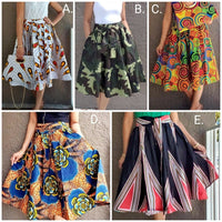 WOMAN MID LENGTH PRINTED SKIRT