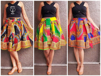 #7009 WOMAN SHORT DASHIKI SKIRT