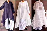 #AA18-666CW  LONG HIGH/ LOW KURTA BLOUSE