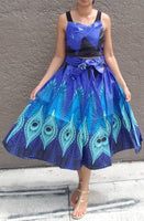 WOMAN PRINTED MID LENGTH FLARED SKIRT /MULTI COLOR