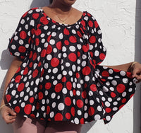 Authentic African print bell blouse