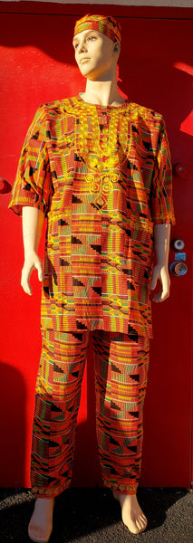 #20093 MEN 3 PCS SET / KENTE
