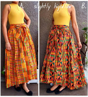 #333 WOMAN LONG MAXI SKIRT / SLIGHTLY HI-LO