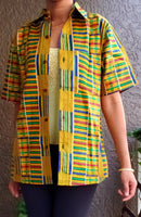 #DSK55 KENTE BUTTON DOWN SHIRT