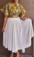 #93 MID LENGTH SKIRT - SOLID
