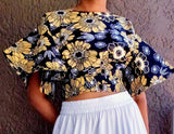 #2037 WOMAN CROP TOP- AFRICAN PRINT