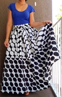 #7001 WOMAN PRINTED LONG MAXI SKIRT.