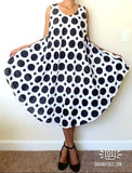#1316 UMBRELLA POLKADOT DRESS