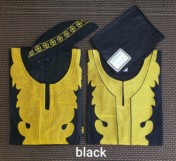 Men Embroidery 3 Piece Sets