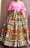 #7001 WOMAN LONG MAXI PRINTED SKIRT