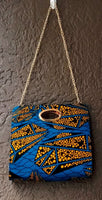 Women Long Skirt & Pocketbook Set- Blue/Yellow