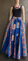 7001 Long Maxi Skirt - Blue