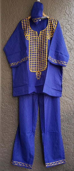 Men's 3 Pcs Set - Royal Blue