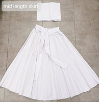 1005 Mid Length Solid Maxi Skirt