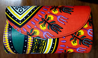 Clutch Purse/ Cross Body- Dashiki Print