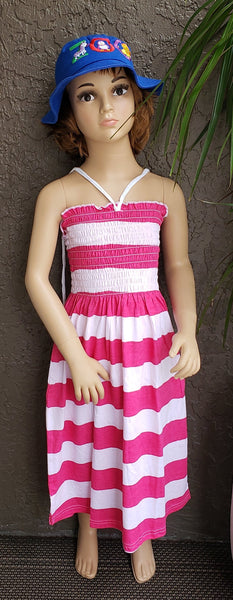 509 Kids/ Girls Tube Dress - Stripe