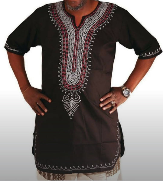 Unisex Mid length  Embroidery Top -