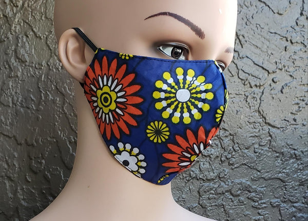 Reversible Reusable Cotton  Mask- Floral Print