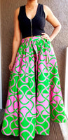 #7001 LONG FLARED MAXI SKIRT