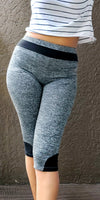 750- Workout  Capris / Active Wear Cropped Pant- Color Bind