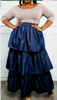 WOMAN LONG RUFFLE SKIRT