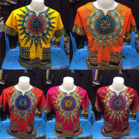TRADITIONAL AFRICAN PRINT TOP/ UNISEX