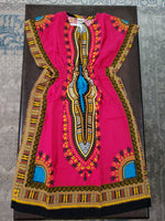 9007 - Girls Kaftan Dress-Traditional Dashiki