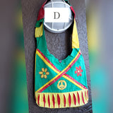 Hobo Bohemian  Patch  Crossbody Bag- Rasta
