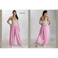 AA-13310   Cotton Harem Wrinkle Pant- Solid