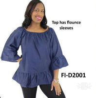 FL-2015 Woman blouse / blue denim