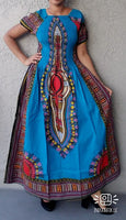 WOMAN LONG SMOCKED DRESS