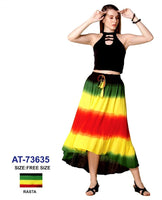 Mid Length Rasta Skirt- AT 73635