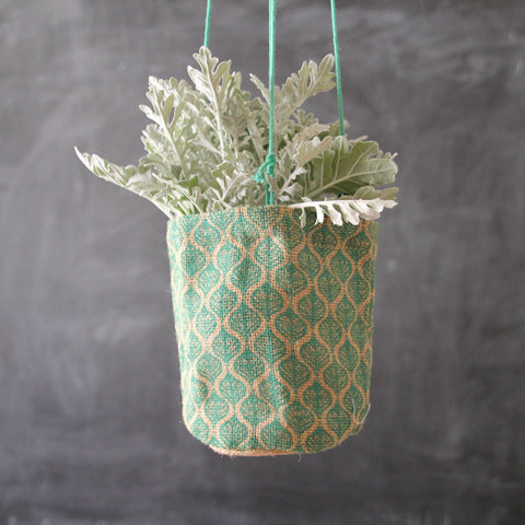 Teal Jute Pot Holder