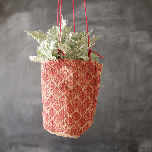 Red Jute Pot Holder
