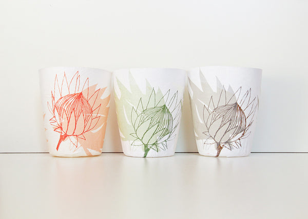 Wolanani Protea Forest Papier Mache Tealight Holders