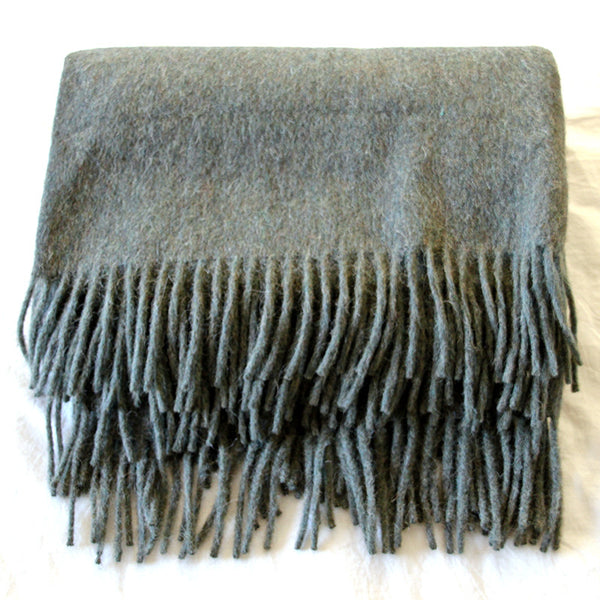 Forest Green Alpaca Wool Throw