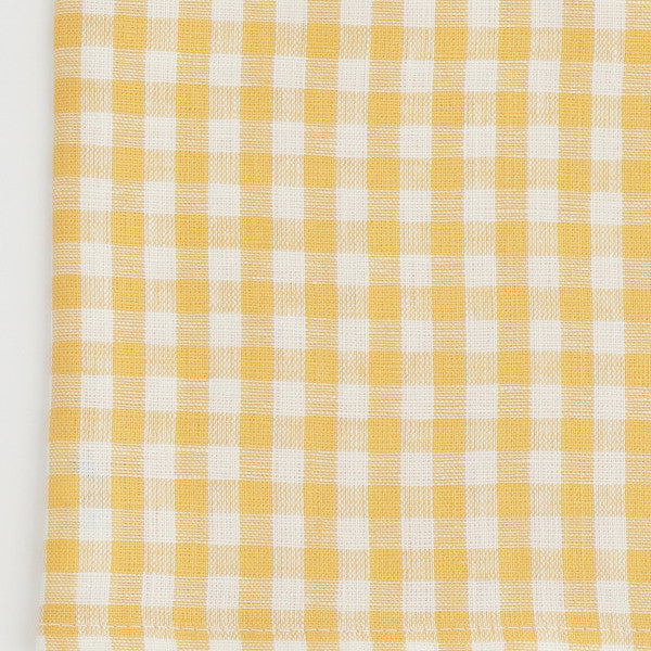 Fog Linen Yellow Check Kitchen Cloth