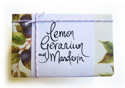 Maple Soaps Lemon Geranium and Mandarin Soap Bar