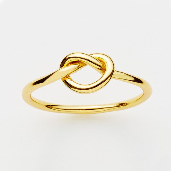 Pinkloulou Love Knot Ring in Gold Plate